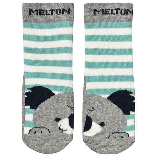 Melton ABS Koala Socks Grey Melange Light Grey Melange
