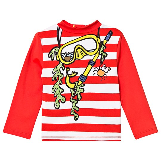 Stella McCartney Kids Red and White Striped Rash Vest 9082 - White