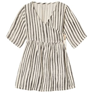 Image of Little Creative Factory Bamboo Wrap Dress Sort/Hvid 18 months (1277742)