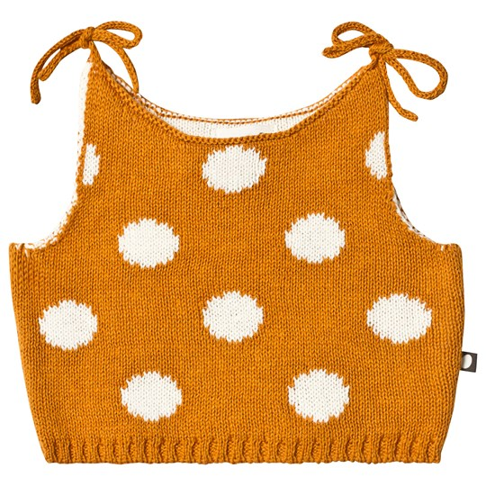 Oeuf Dots Knit Tank Ochre/White ochre/white dots