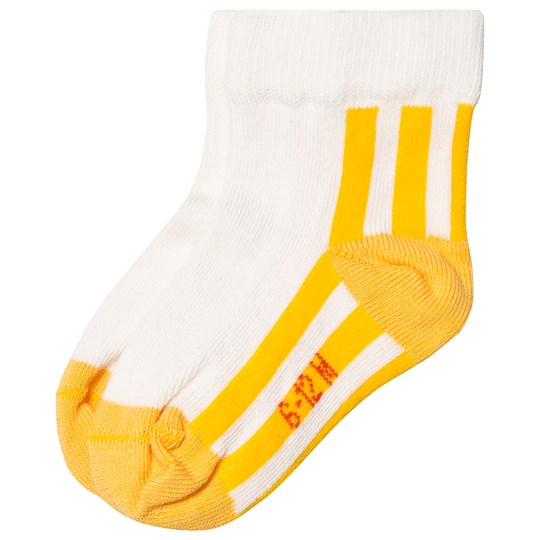 Tinycottons Stripes Quarter Socks Off White/Canary off-white/canary