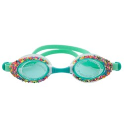 Rice Pastel Green Swimming Goggles with Sprinkles