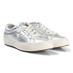 Converse Silver Metallic One Star OX Sneakers