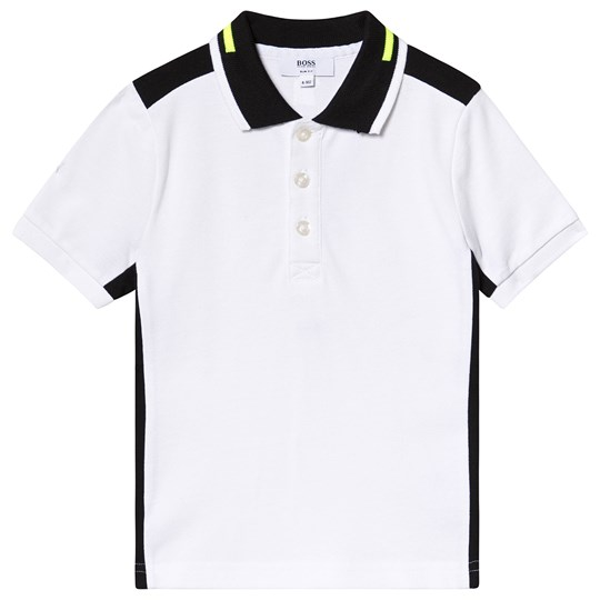 BOSS White and Black Side Polo 10B