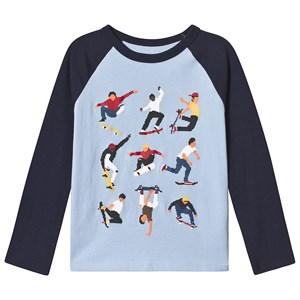 Image of GAP Logo Raglan T-shirt Simply Blue S (6-7 år) (3125353171)