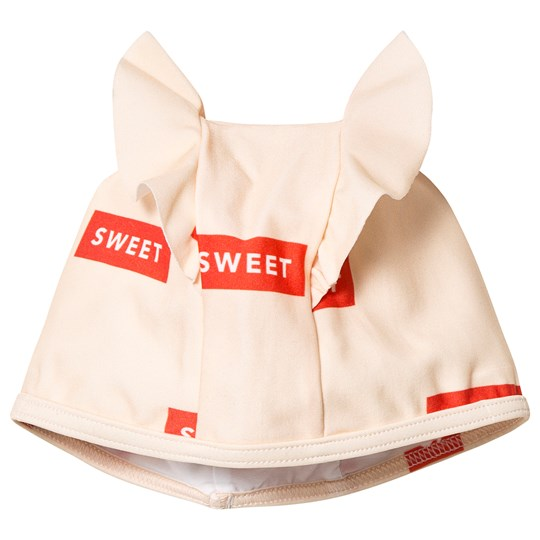 Tinycottons Sweet Frills Swim Hat Cream/Red cream/red