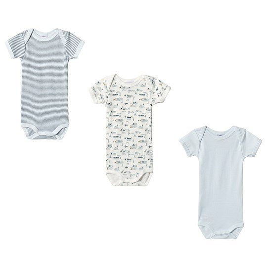 3 Pack Baby Bodies Light Blue