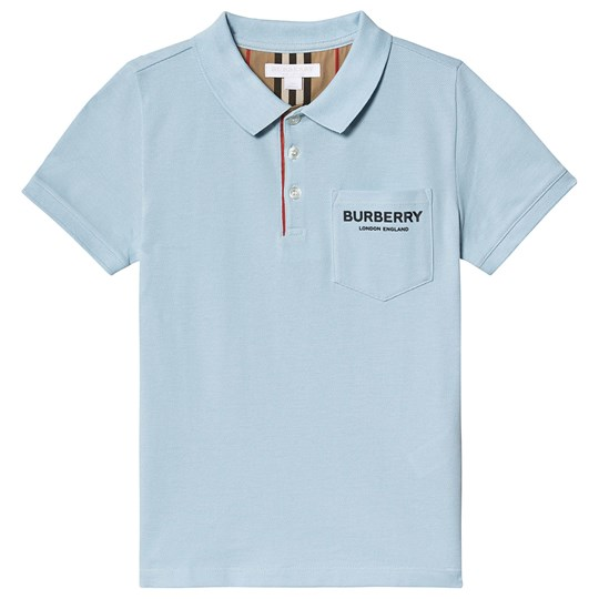 Burberry Light Blue Wesley Logo Polo A1404