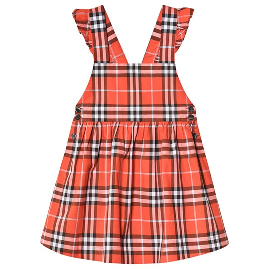 Burberry Red Check Livia Pinafore Dress A6016
