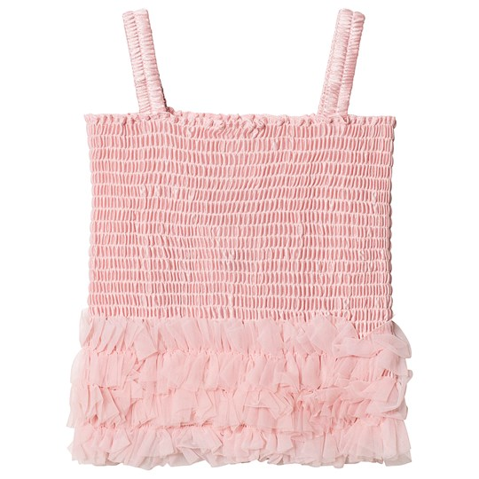 DOLLY by Le Petit Tom Frilly Top Rose Pink Rose Pink