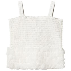 DOLLY by Le Petit Tom Frilly Top Off White
