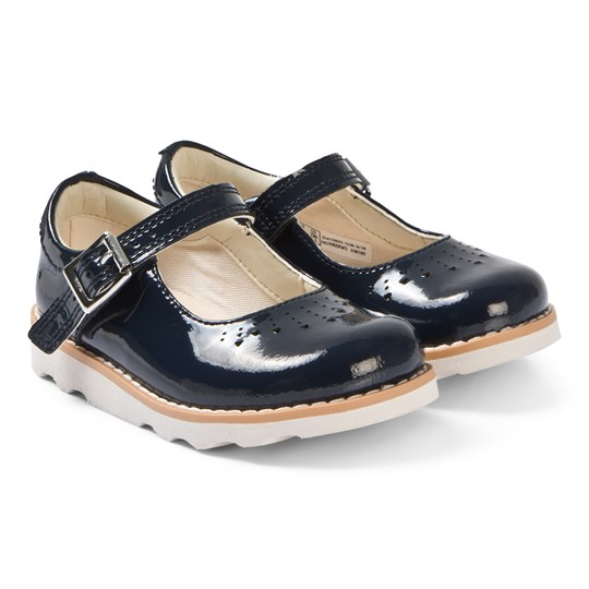 Clarks Crown Jump Mary Janes Navy Patent Navy Patent