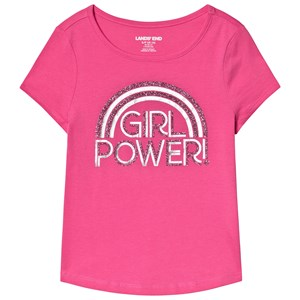 Image of Lands' End Girl Power Tee Pink 10-12 years (3132748449)