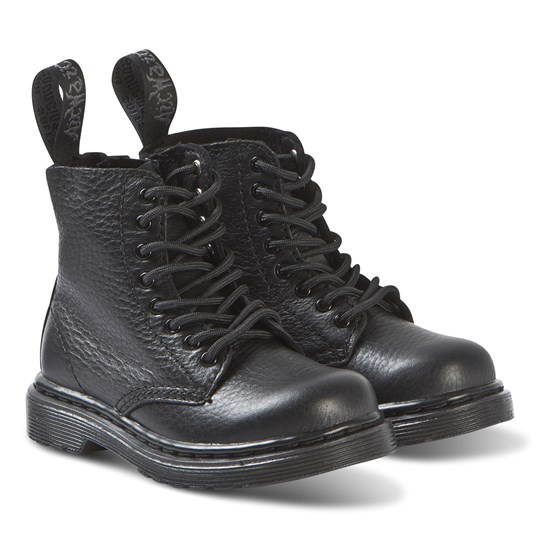 Dr. Martens Black 1460 Pascal Mono Soft Leather Boots Black