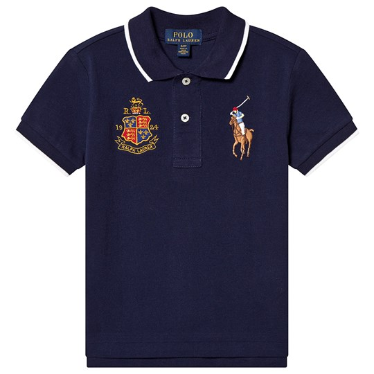 Ralph Lauren Navy Pique Polo Shirt 004