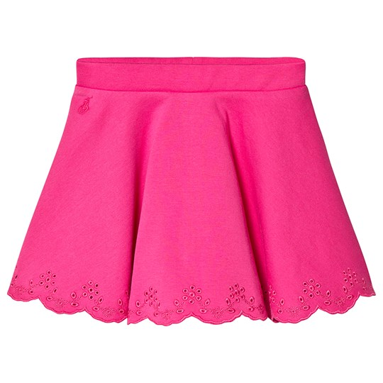 Ralph Lauren Pink Ponte Skirt with Eyelet Detail 003