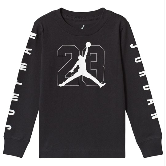 Air Jordan Black Jumpman Logo Long Sleeve Top 023