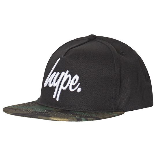 Hype Black and Camo Script Cap Black/multi