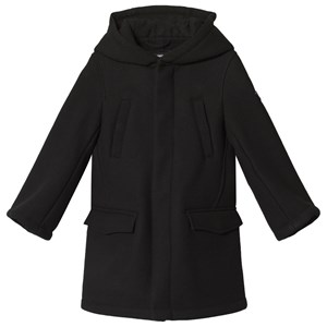 Image of Emporio Armani Black Hooded Wool Padded Coat with Teddy Lining 4 years (1122684)