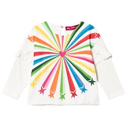 Agatha Ruiz de la Prada White & Multicolor Shooting Star Print Tee