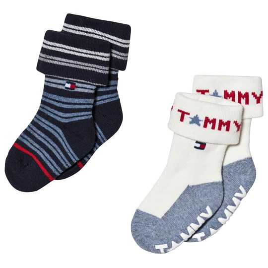 Tommy Hilfiger White and Navy Abs Sock 2-Pack tommy original