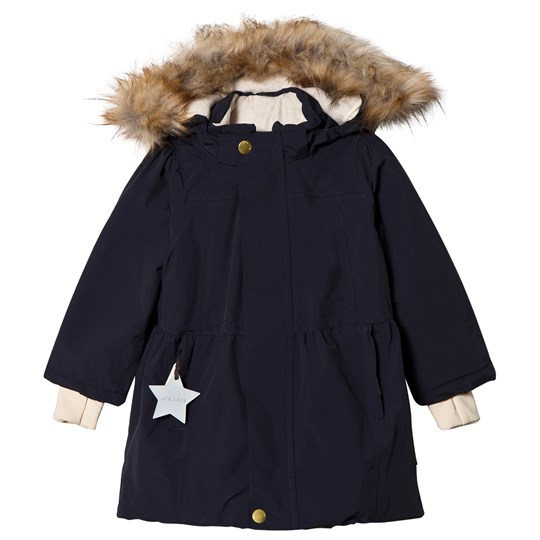 Mini A Ture Viola Faux Fur Jacket Sky Captain Blue Sky captain blue