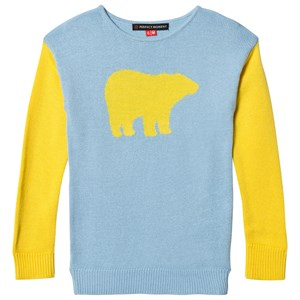 Image of Perfect Moment Blue and Yellow Crew Bear Sweater 10 years (1196626)