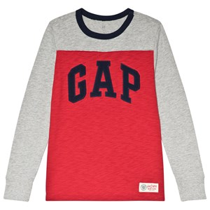 Image of GAP Modern Red and Grey Jersey Tee L (10-11 år) (3065577171)