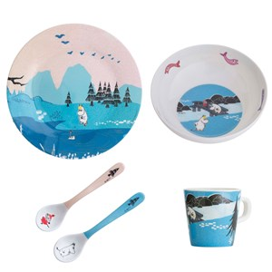 Image of rattstart Forest & Lake Moomin Dinner Set Blue (3139023067)