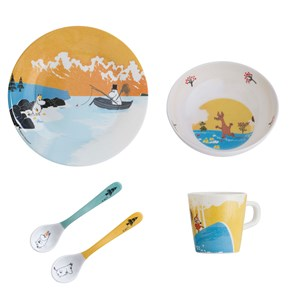 Image of rattstart Forest & Lake Moomin Dinner Set Yellow (3139023069)