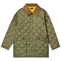 Barbour Liddesdale Quilted Jacket Moss Yellow