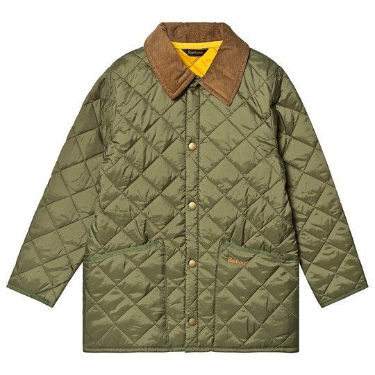 Barbour Liddesdale Quilted Jacket Moss Yellow Yellow