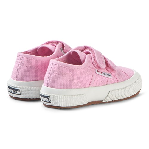 Superga Bright Pink CotJStrap Velcro Classic Canvas Shoes