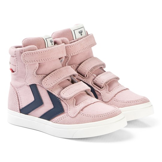 Hummel Stadil Canvas High Shoes Jr in Pale Mauve Pale mauve