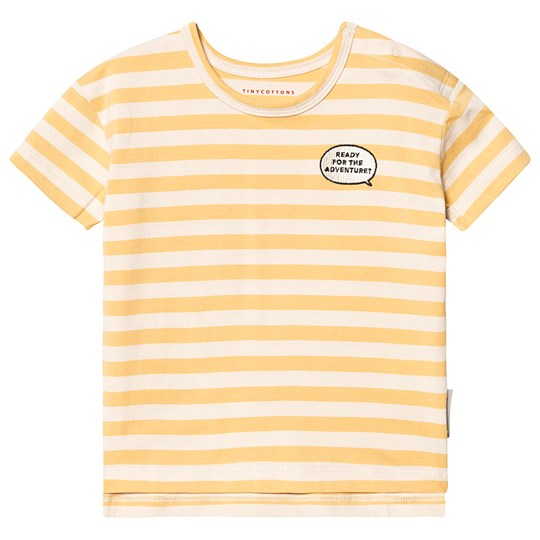 Tinycottons Adventure Stripes Tee Cream/Canary cream/canary