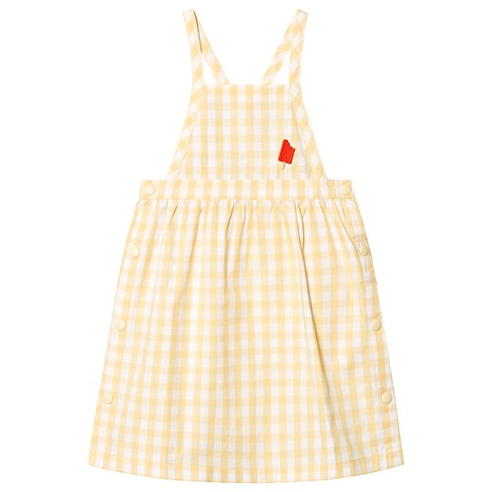 Tinycottons Check Dress Off White/Canary off-white/canary