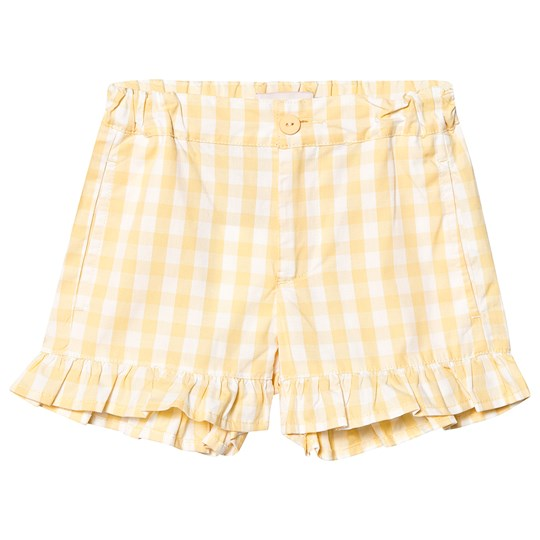 Tinycottons Check Shorts Off White/Canary off-white/canary