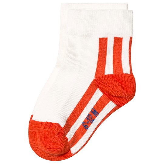 Tinycottons Stripes Quarter Socks Off White/Red off-white/red