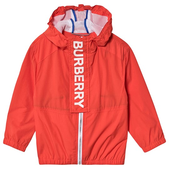 Burberry Red Austin Branded Hooded Coat A1436