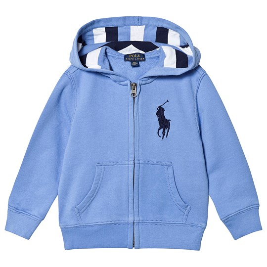 Ralph Lauren Blue Hoodie with Stripe Lining 001