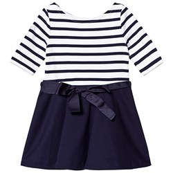 Ralph Lauren Navy Stripe Dress with Bow