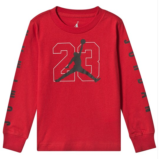 bc3c9dae324 Air Jordan - Red Jumpman Logo Long Sleeve Top - Babyshop.com