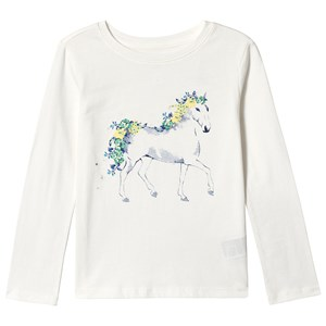 Image of GAP Graphic Long Sleeve Tee Off White XS (4-5 år) (3125330133)