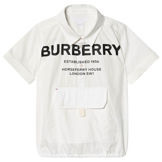 Burberry White Theodore Branded Shirt A1464
