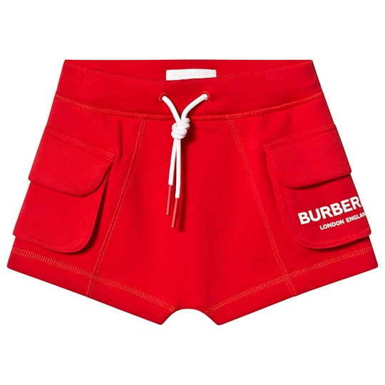 Burberry Bright Red Logo Shorts A1460