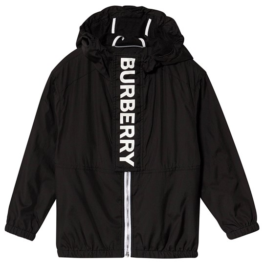 Burberry Black Austin Burberry Branded Hooded Coat A1189