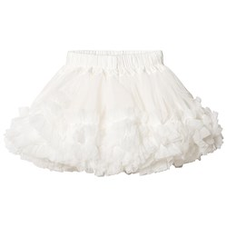 DOLLY by Le Petit Tom Frilly Skirt Off White