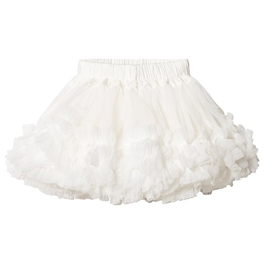 DOLLY by Le Petit Tom Frilly Skirt Off White Off white