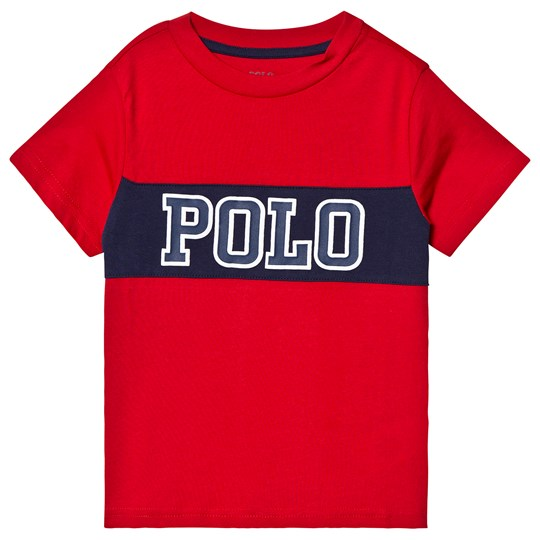 Ralph Lauren Red and Navy Polo Logo Graphic Tee 001