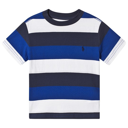 Ralph Lauren Blue, Navy and White Multi Stripe Tee 001